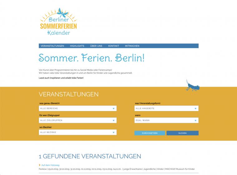 Sommerferien Kalender Berlin (Design ext.)