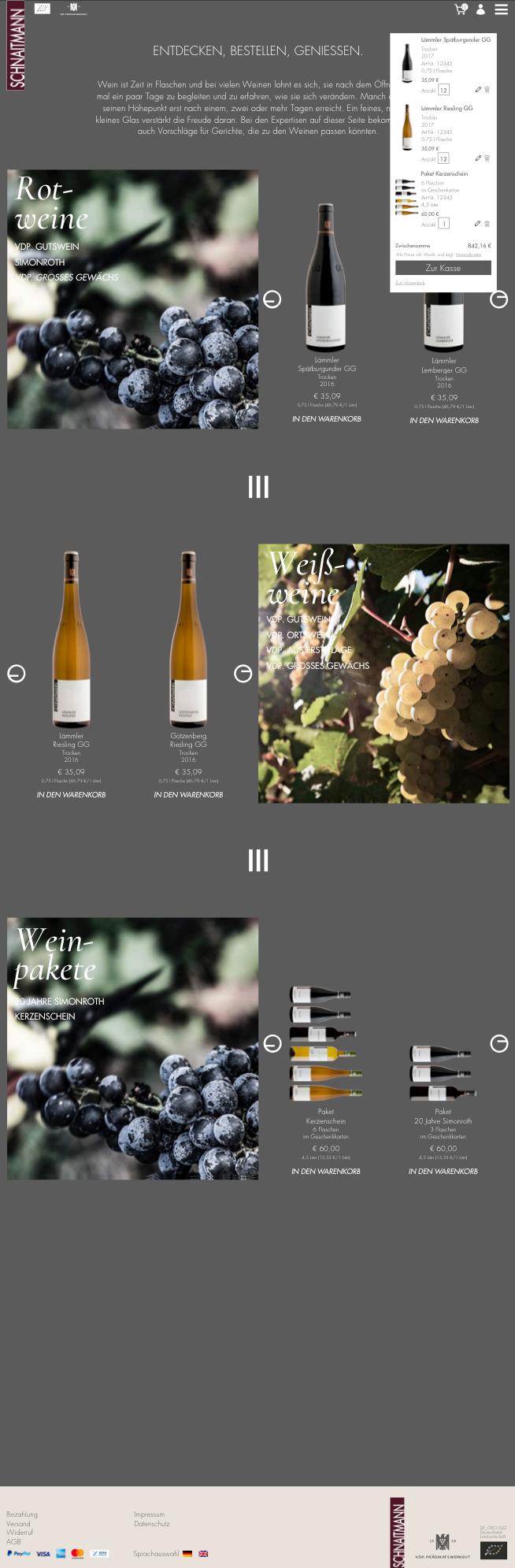 Weingut Schnaitmann Shoperweiterung